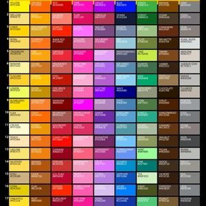 Other - Color chart ❤️🔥🌟🧤🧢🎒🎩